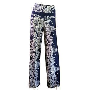 Fashion Nova High Waisted Boho Blue Pants Small